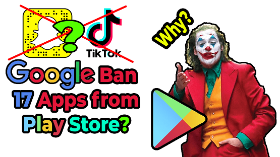 Google has banned apps from play store