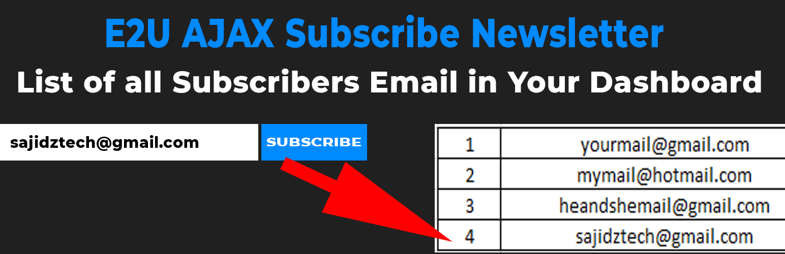 E2U AJAX Subscribe Newsletter